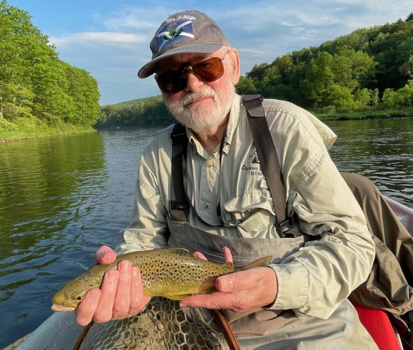 Jim with a nice fish in between the storms.  Bob Lewis photo
