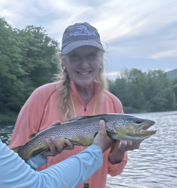 Wendy with a good fish yesterday.  Samantha Dennis photo