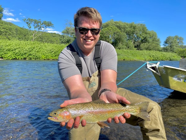Dan with a nice rainbow yesterday afternoon.  Steve Shen photo