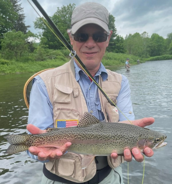 Ed with a nice WB rainbow yesterday.  Ron Reedy photo