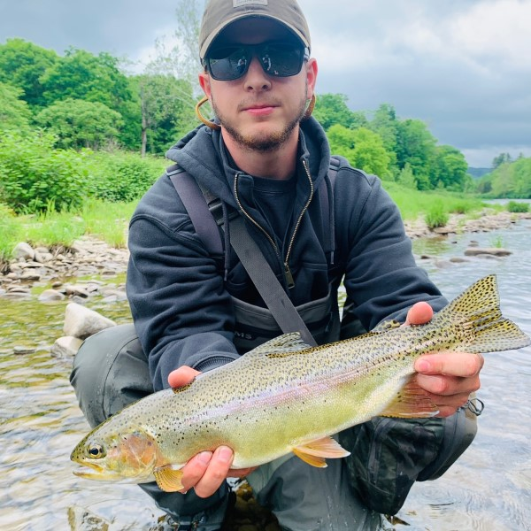 Mike with a nice rainbow yesterday.  Jeremy Shurites photo