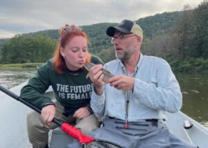Emily and Tim Glynn had a fund day on the water yesterday