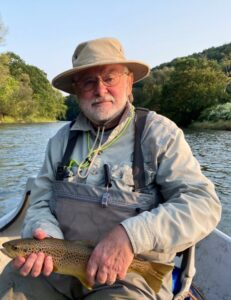 Jim with on eon an olive dry fly yesterday