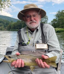 Jim with a nice dry fly fish yesterday
