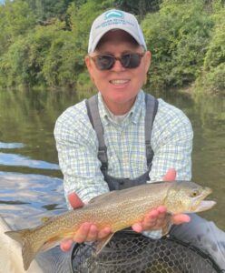 Ron with a tiger trout yesterday.  Samantha Dennis photo